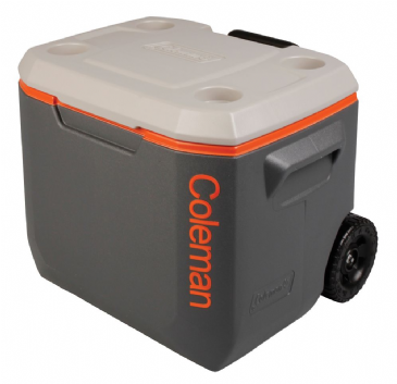 Coleman 50 Quart Xtreme Wheeled Cooler / Coolbox - Tri Colour